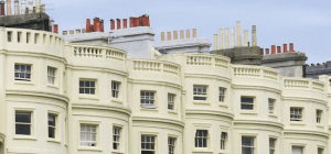 A photo of the top floor flats in a Hove regency terrace