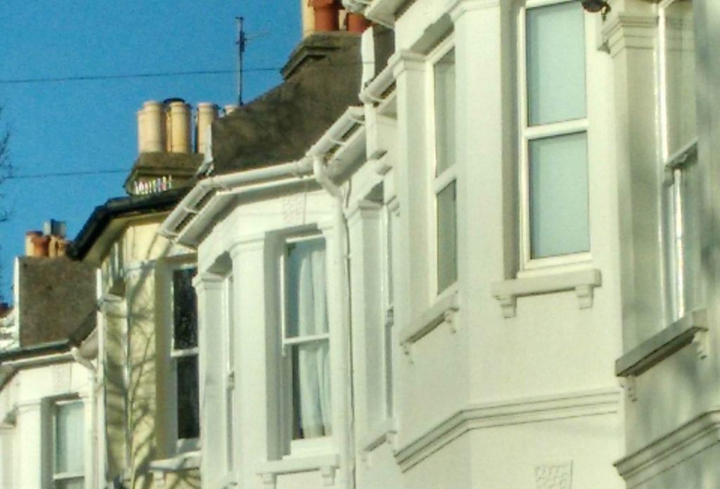 Terraced houses in Brighton